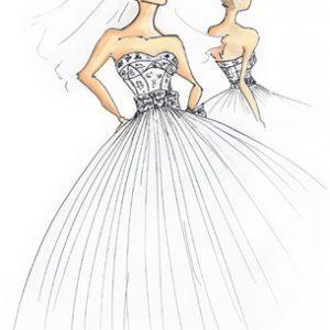 girl-w-veil-dress-sketch